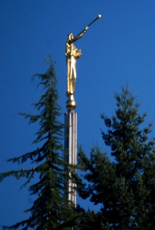 A symbol of LDS Temples - the Angel Moroni