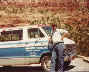 Working as a Tour Guide in Arizona for Nava-Hopi Tours in 1983