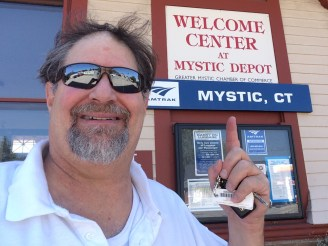 Mystic, CT Amtrak Station in Sept 2015