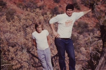 In Jemez Springs, NM ca. 1978 with my younger brother Gary
