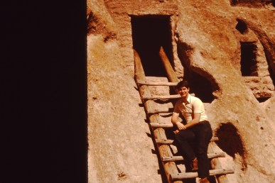 Visiting the Indian Ruins in Bandelier National Monument, 1978