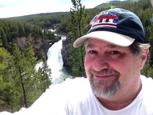 Yellowstone Falls in Yellowstone National Park in Wyoming in 2014