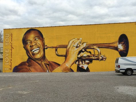 Louis Armstrong Mural by Sergio Odeith from Portugal, for PRHBTN 2015
