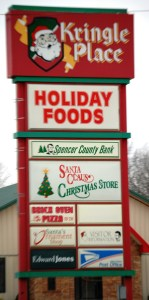 Kringle Place shopping center in Santa Claus, IN