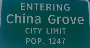 Welcome to China Grove, TX