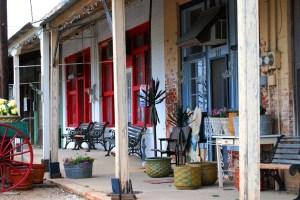 Rustic shopping area of Tioga, Texas