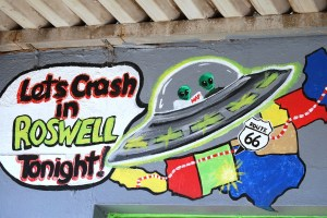 Let's Crash in Roswell wall art