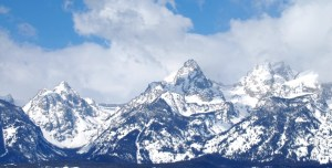 Grand Tetons as seen from outside Jackson, WY