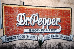 Old Dr Pepper Wall Mural in Hico, Texas