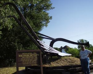World's Largest Hand Plow at Sod House Museum