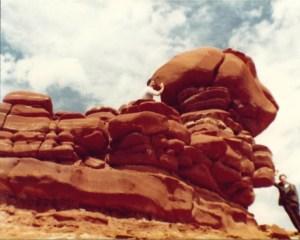Red Rocks near Tuba City, AZ taken in 1983