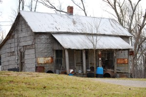 An old cabin in Upton, KY