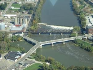 The Y Bridge of Zanesville (from a Muskingham County Air Photo)