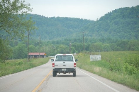 Heading into the mountains along KY 89 S out of Irvine.