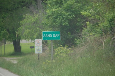 Welcome to Sand Gap, KY