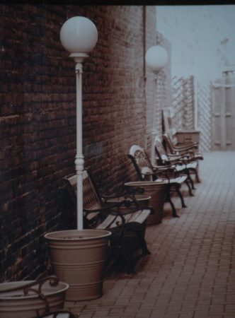 Alley relaxation area on the side of Guarino's
