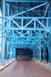Steel Structure of the Main Avenue Bridge in Cleveland