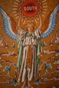 Part of a larger mural on the dome of the monument