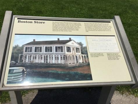 History Diorama Plaque of the Boston Store