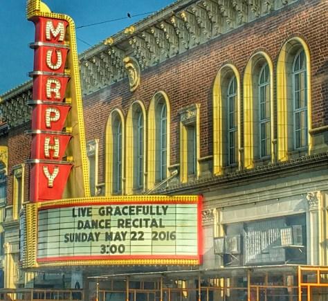 The historic Murphy Theatre in Wilmingotn, OH