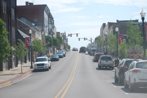 A look at one of the main streets of Washington, PA