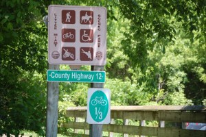 Typical signage on the Miami Trail in Ohio