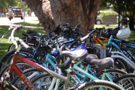 Bike Parking at In the Country - a popular place on the trail