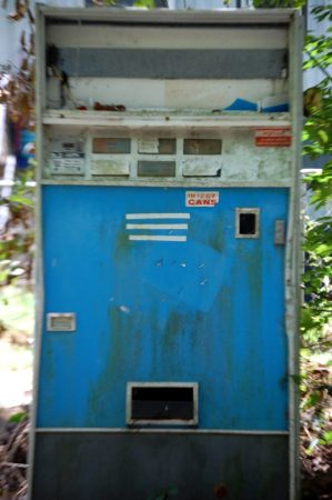 This old Pepsi machine sits along the side of the Creeper Trail west of Damascus. Don't think it works anymore -- HA