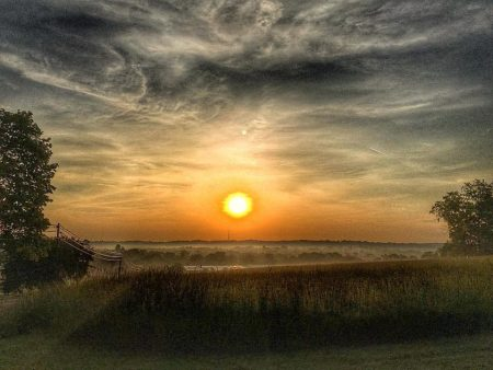 Sunrise near the Montour Trail in Pennsylvania