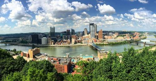 Panoramic View of Pittsburgh from atop Mt. Washington