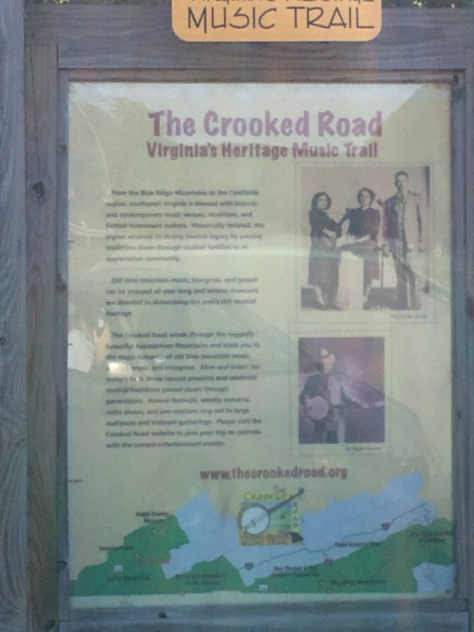 Crooked Road Historical Sign near the Virginia Border with Kentucky