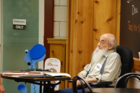 An old Amish man relaxes in Hein's - taken in July 2011