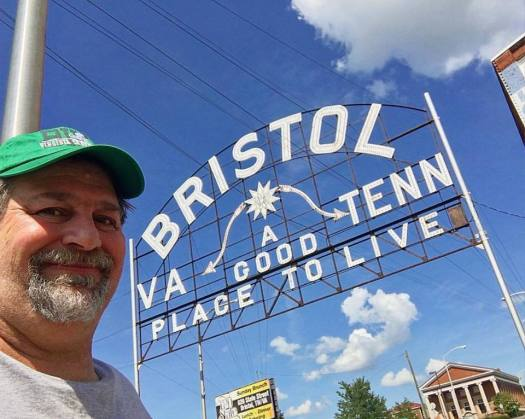 Bristol, Tennessee and Virginia - taken when we visited the Virginia Creeper Bike Trail