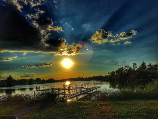 Sunset at Jacobson Lake in Lexington, KY