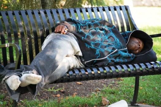 Sleeping on a Bench - Lexington, Kentucky