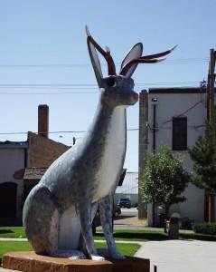 Giant Jackalope Statue in Douglas, WY