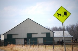 Barn with Amish Buggy Sign