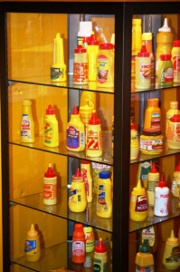 Mustard Display - Plastic Bottles