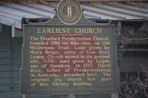 Earliest Church Plaque