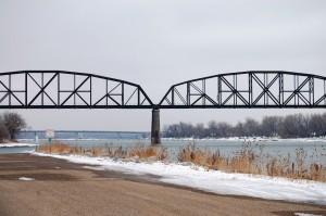 Grant Marsh Bridge over Missouri River in Bismarck