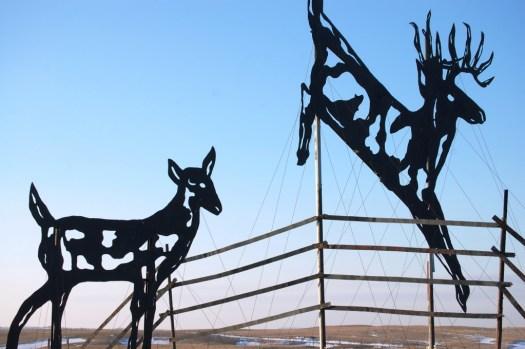 """""""Deer Crossing"""" on Enchanted Highway"""