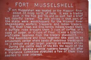 Fort Musselshell Historical Marker