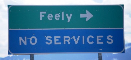 Feely, MT sign