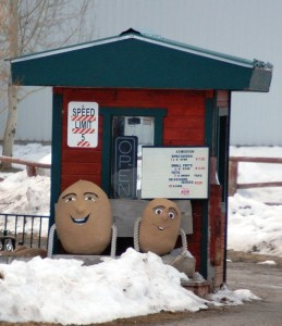 Little Spuds at entry gate