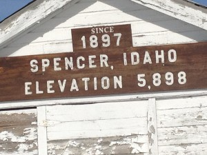 Spencer, Idaho sign
