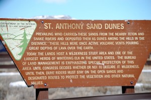 St. Anthony Sand Dunes Sign