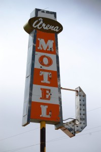 Old Motel Sign in Shelby, Montana
