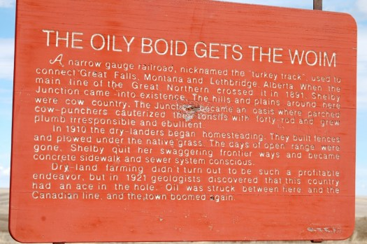 The Oily Boid gets the Woim - a unique historical marker