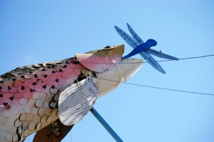 """60 foot tall trout - centerpiece of """"Fisherman's Dream"""""""