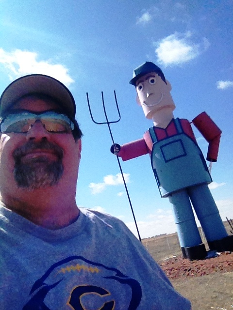 Sumoflam on the Enchanted Highway near Regent, ND